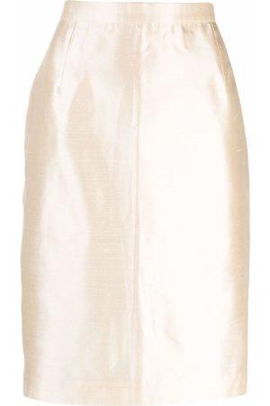 Yves Saint Laurent 2000s high-waisted silk pencil skirt
