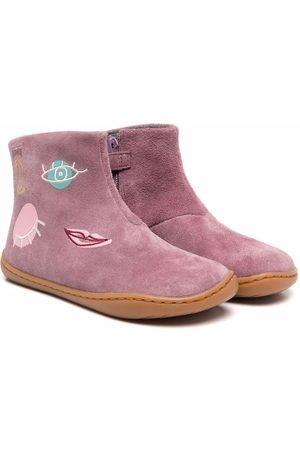 Camper TWS embroidered ankle boots