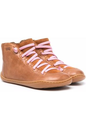 Camper Lace-up leather ankle boots