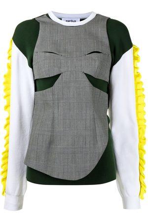 ENFÖLD Panelled ruffled sweatshirt
