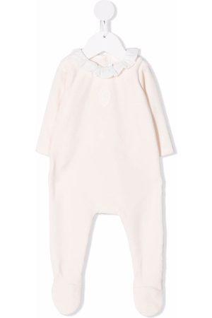 Chloé Ruffled-neck cotton-blend pajamas