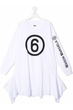 Maison Margiela Girls Casual Dresses - TEEN logo long-sleeve dress