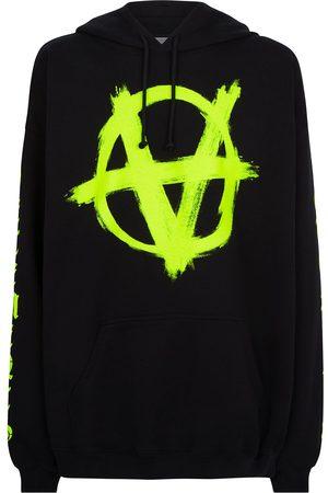 Vetements Anarchy drawstring jersey hoodie