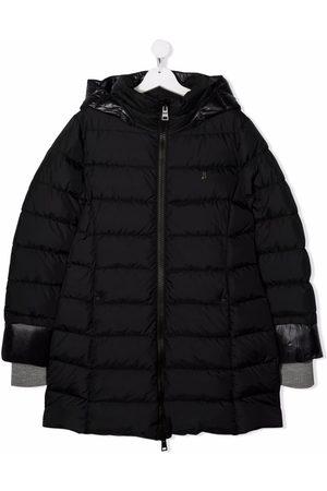 HERNO TEEN hooded zip-up padded coat
