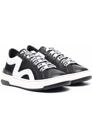 MSGM Kids TEEN logo-laces low-top sneakers