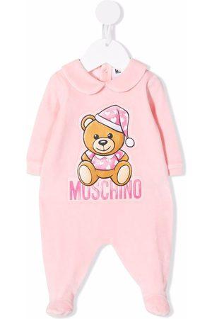Moschino Kids Logo-print cotton pyjamas