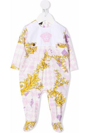 Versace Kids Medusa-embroidered pajamas