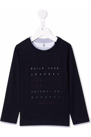 Brunello Cucinelli Quote-motif cotton sweatshirt