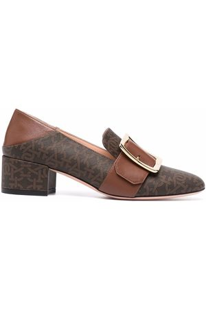 Bally MJanelle monogram buckle loafers