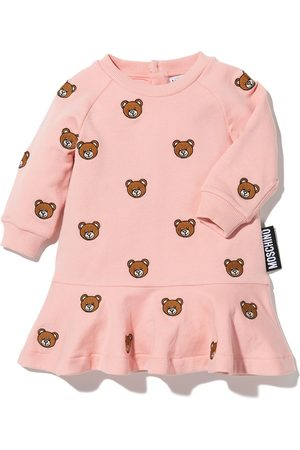 Moschino Baby Casual Dresses - Embroidered Teddy sweatshirt dress