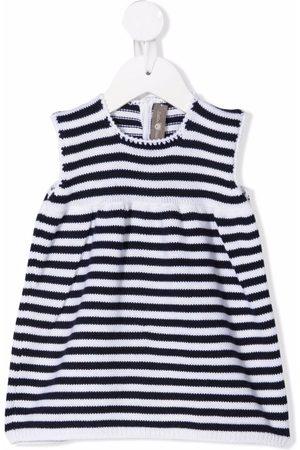 LITTLE BEAR Striped virgin wool dress