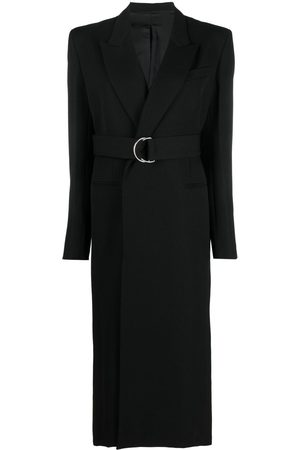 Ami Long belted coat