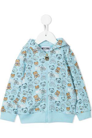 Moschino Logo-print zip-up hoodie