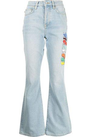 Fiorucci Women Bootcut & Flares - Brooke logo-print jeans