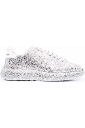 Philipp Plein Crystal-embellished low top sneakers