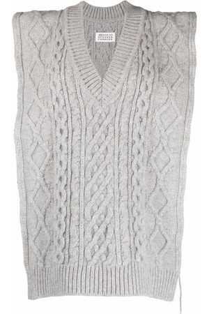 Maison Margiela Cable-knit sleeveless jumper