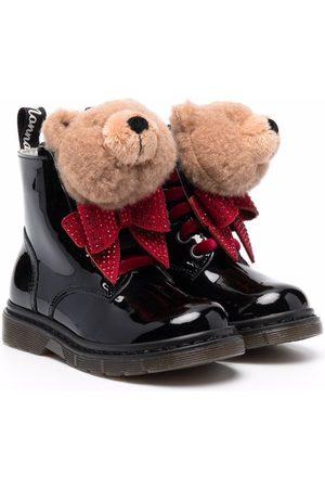 MONNALISA Bear-appliqué ankle boots
