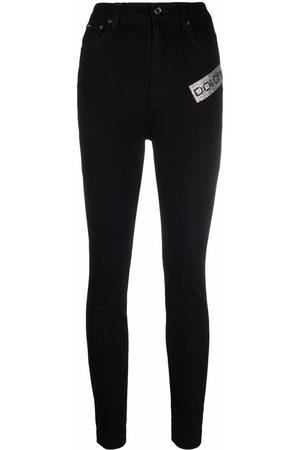 Dolce & Gabbana Women Skinny - Logo-embellished skinny jeans