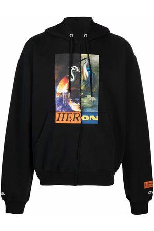 Heron Preston Split graphic-print hoodie