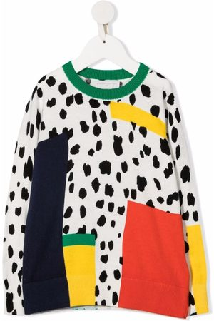 Stella McCartney Dalmatian Spots-print organic cotton-blend sweatshirt