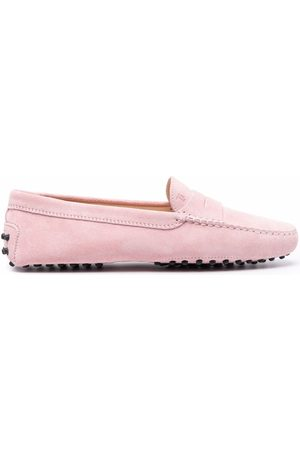 Tod's Women Loafers - Almond toe suede loafers