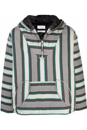 Rhude Geometric-print cotton hoodie
