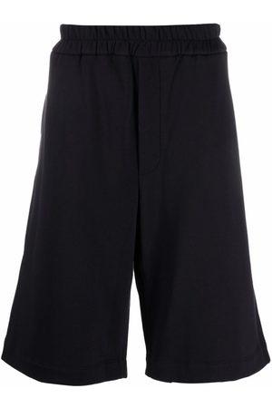 Jil Sander Men Sports Shorts - Long cotton track shorts