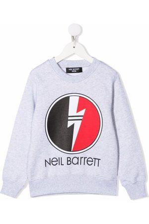 Neil Barrett Boys Sweatshirts - Logo crew-neck sweatshirt