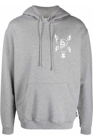 Philipp Plein Hexagon logo-print hoodie