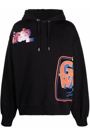 GCDS Logo-printed hoodie