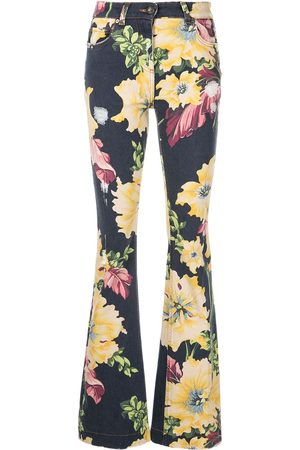 Etro Floral-print flared jeans