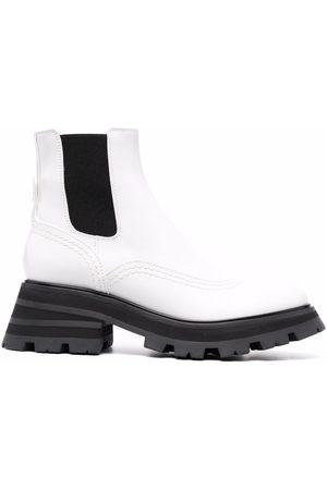 Alexander McQueen Wander ridged-sole leather boots