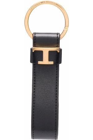Tod's Logo-plaque leather keyring