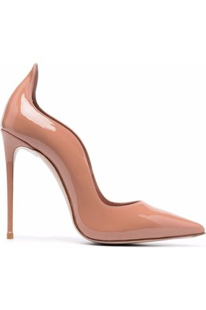 LE SILLA Wave-edge patent leather pumps