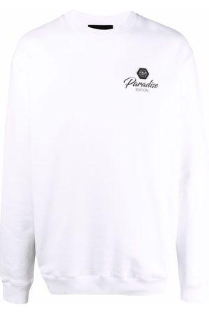 Philipp Plein Logo-patch long-sleeved sweater