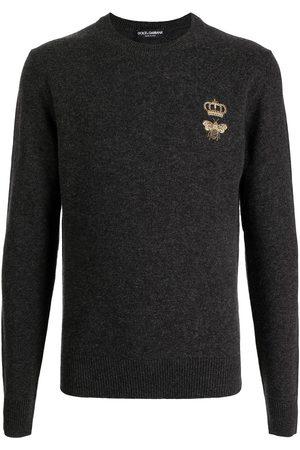 Dolce & Gabbana Fine-knit embroidered jumper