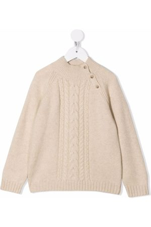 BONPOINT Cable-knit round neck jumper