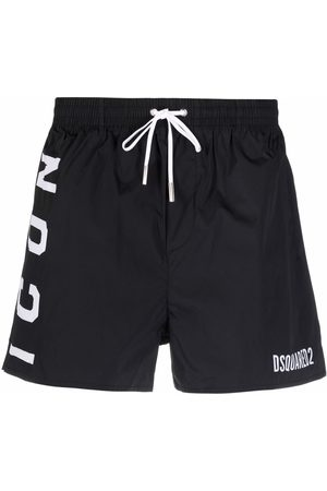 Dsquared2 Logo-print drawstring swim shorts