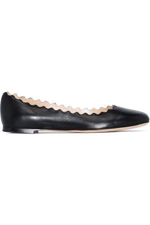 Chloé Lauren leather ballerina pumps