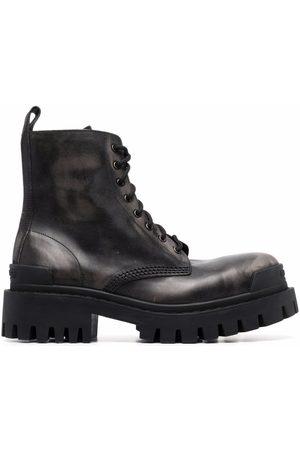 Balenciaga Strike leather lace-up boots