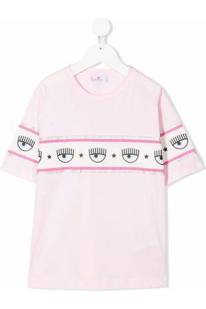 Chiara Ferragni Winking eye-motif cotton T-Shirt