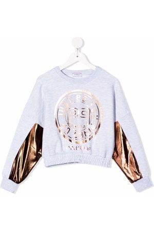 Pinko Kids Metallic-panel sweatshirt