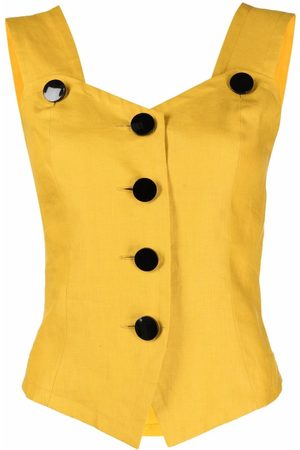 Yves Saint Laurent 1990s sleeveless linen top