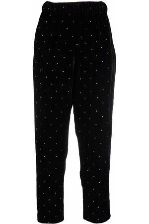 Yves Saint Laurent Pre-Owned 1970s rhinestone-embellished crop trousers