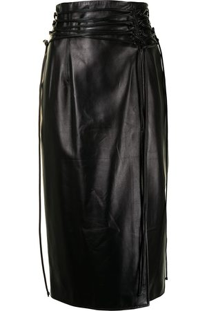 16Arlington Lucerne leather midi skirt