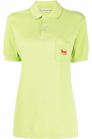 Céline 1990s logo-embroidered polo shirt