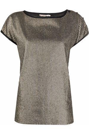 Yves Saint Laurent Pre-Owned 1970 metallic-stripe T-shirt