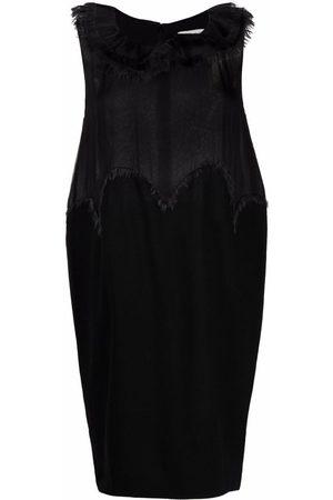 Yves Saint Laurent Pre-Owned 2000s frayed detailing sleeveless dress