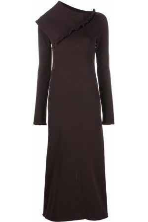 Jil Sander Asymmetric collar maxi dress