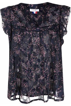 La Seine & Moi Women Camisoles - Floral-print ruffled vest